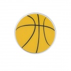 Cool Basketball Pattern Car Decorative Sticker - Yellow + Black + Silver