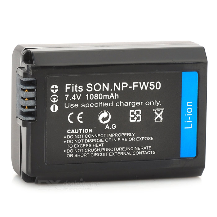 Replacement NP-FW50 7.4V 1080mAh Battery Pack for Sony NEX-5 / NEX-3 + More np f960 f970 6600mah battery for np f930 f950 f330 f550 f570 f750 f770 sony camera