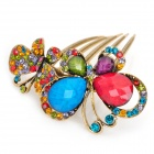 Stylish Copper Rhinestone Colorful Butterfly Hair Pin/Clip