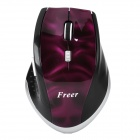 2.4GHz 1000 / 1600DPI Wireless Optical Mouse w/ USB Receiver - Purple + Black (2 x AAA)