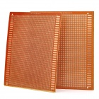 Universal DIY Bakelite Plate PCB Board - Brown (2-Piece Pack)