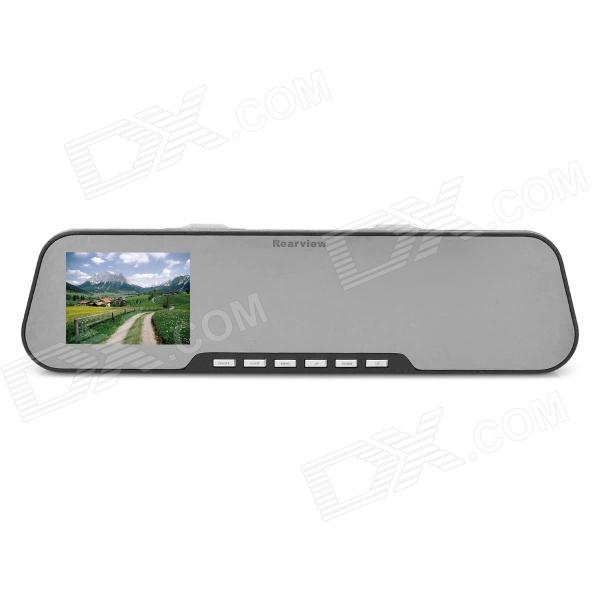 Rearview Mirror CMOS 480 TV Lines Car DVR w/ 4-IR LED Night Vision / Car Charger (2.7