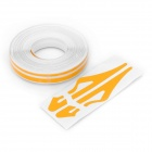 Car Body PET Decorative Stripe Sticker - Orange