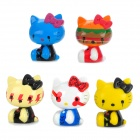 Cute Gothic Hello Kitty Figures Doll Toy Set (5-Piece)
