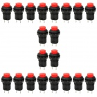 DS-426 Non-Locking Push Button Switch - Red + Black (20-Piece Pack)