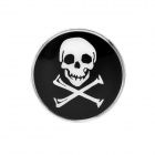 Cool Skull Pattern Car Decorative Sticker - Black + White + Silver