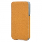 ROCK Protective Flip-Open PU Leather Case for Iphone 4 / 4S - Brown