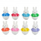 Nette Miffy Hase Style PVC Roly-Poly Spielzeug (8-Kaninchen-Pack)