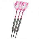 Professional Aluminum Alloy + PET Dart Set w/ Case - Deep Pink + Silver