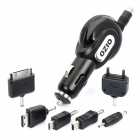 Retractable Car Charger w/ 6 x Charging Adapters for iPhone / Samsung / Nokia (12~24V)