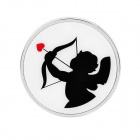Cupid Pattern Decoration Car Sticker - Black + White + Silver + Red