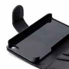 Protective PU Leather Case with 2 Card Holders for Iphone 4 / 4S - Black