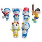 Cute Vinyl Doraemon Toy Doll Set (6-Piece Set)