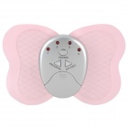 Butterfly Style Electronic Body Muscle Massager - Pink + Silver (2 x CR2032)