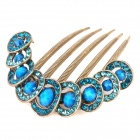 Elegant Copper Decoration Hairpin - Bronze + Blue