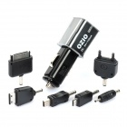 USB Car Charger with USB Cable / Charging Adapters for iPhone / Sony Ericsson / Samsung - Black