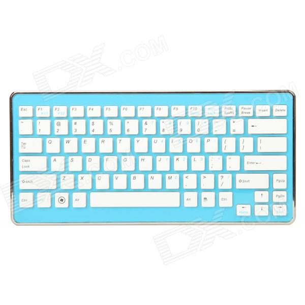 2.4GHz Mini Wireless 84-Key Keyboard w/ USB Receiver - Blue (2 x AAA)