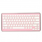 2.4GHz Mini Wireless 84-Key Keyboard w/ USB Receiver - Pink (2 x AAA)