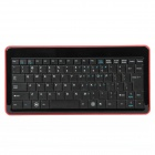 2.4GHz Mini Wireless 85-Key Keyboard w/ USB Receiver - Black + Red (2 x AAA)