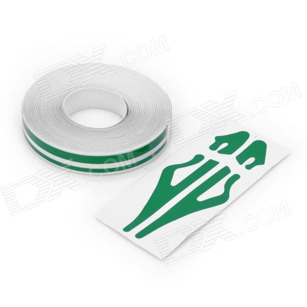 Decorative PET Stripe Car Body Sticker Line - Green