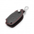 PU Leather Car Key Holder Case Bag for Volkswagen - Black