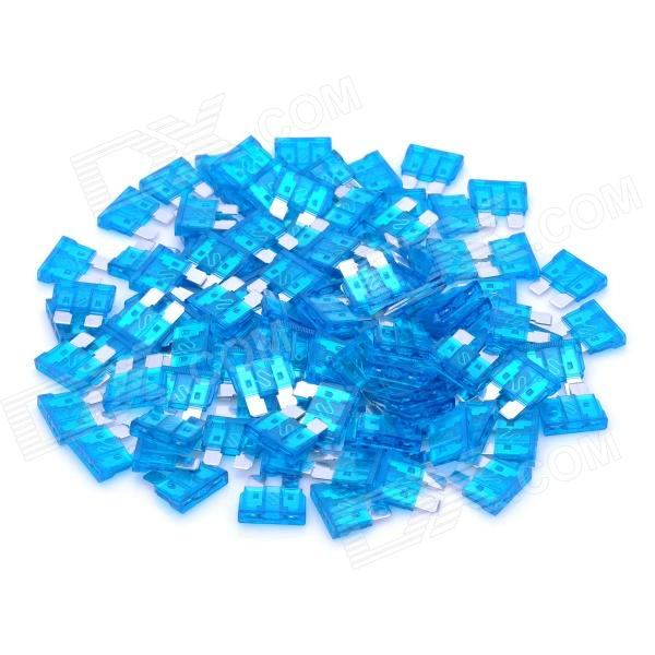 12V 15A Car Power Fuses - Blue (100-Piece Pack) thumbnail