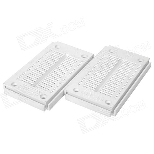 Prototype Printed Circuit Board Breadboards - White + Blue (Pair)
