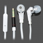 BASEUS In-Ear Earphone with Microphone for Iphone 4 / 4S - White (3.5mm Jack / 125cm-Length)