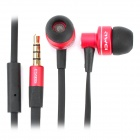 Stylish In-Ear Earphone with Microphone for iPhone / iPad / iPod - Red