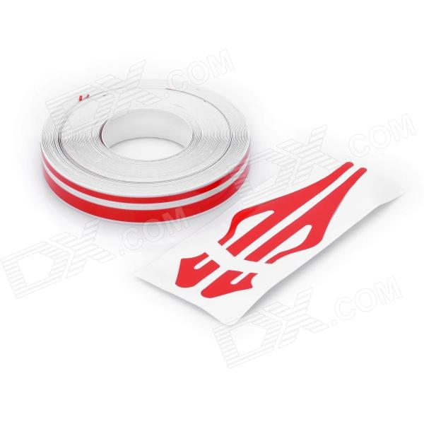 Decorative PET Stripe Car Body Sticker Line - Red buy two get one free motorcycle styling wheel hub tire reflective sticker car decorative stripe decal for yamaha honda suzuki