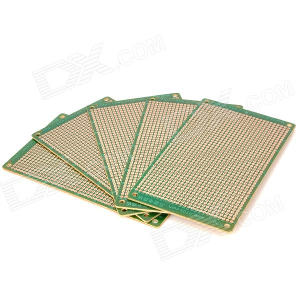 Prototype Universal Printed Circuit Board Breadboards - Green + Brown (5-Piece Pack) universal diy single sided bakelite plate board brown