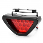 Decorative 1W 12-LED Red Light Car Brake Lamp w/ Stand - Black + Red