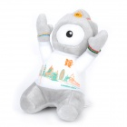 2012 London Summer Olympics Mascot London City Pattern Wenlock Plush Doll Toy - Grey + White