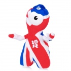 2012 London Summer Olympics Mascot Wenlock Plush Doll Toy - Red + White + Blue