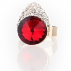 Fashion Lovely Pretty Little Liars Czech Stones Finger Ring - Red