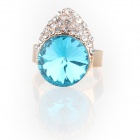 Fashion Lovely Pretty Little Liars Czech Stones Finger Ring - Light Blue