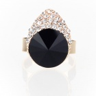 Fashion Lovely Pretty Little Liars Czech Stones Finger Ring - Black