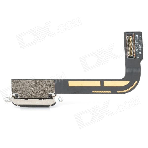 Replacement DIY Charging Connector Flex Cable for The New Ipad - Black replacement charging tail plug connector flex cable for iphone 6 4 7 black blue multi colored