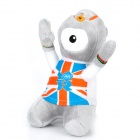 2012 London Summer Olympics Mascot Official Logo Wenlock Plush Doll Toy - Grey + White