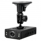 "2.4"" LCD 8.0MP Wide Angle Car DVR Camcorder w/ Mini HDMI / TF - Black"