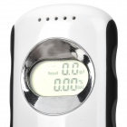 "0.8"" LCD Digital Alcohol Breath Tester - White + Black (2 x AAA)"