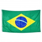 Brazil National Flag - Blue + Yellow + Green (150 x 90cm)