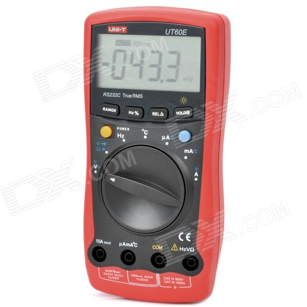 UNI-T UT60E 2.8 LCD Digital Multimeter with RS232 Cable - Red + Grey (1 x 9V 6F22)