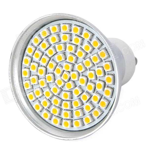 GU10 4.35W 360~430LM 3000~3500K 72-LED Warm White Light Bulb (85~265V)