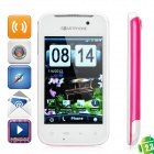 "HG21 Android 2.3 GSM Bar Phone w/ 3.2"" Resistive, Quad-Band, GPS and Wi-Fi - Rosy + White"