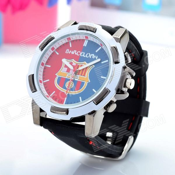 Stylish Barcelona Logo Stainless Steel Quartz Wrist Watch (1 x SR626)