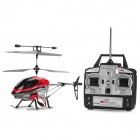 S007 Rechargeable 40MHz 3-CH R/C Helicopter w/ Radio Controller & Gyroscope - Silver + Black + Red