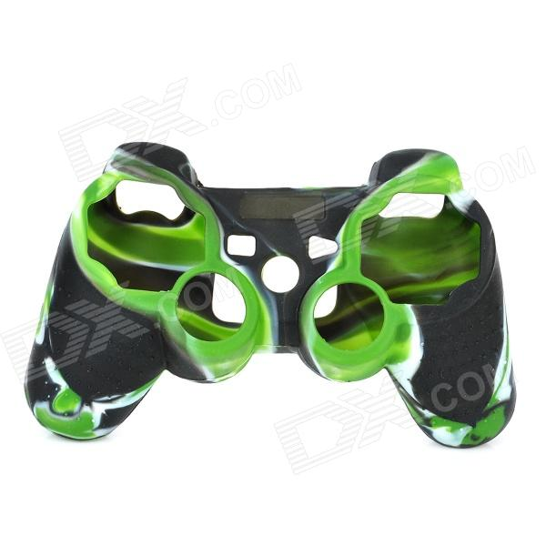 Protective Silicone Cover Case for PS3 Controller - Camouflage Green protective silicone case for xbox one controller camouflage green