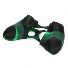 Protective Silicone Cover Case for Xbox 360 Controller - Camouflage Dark Green
