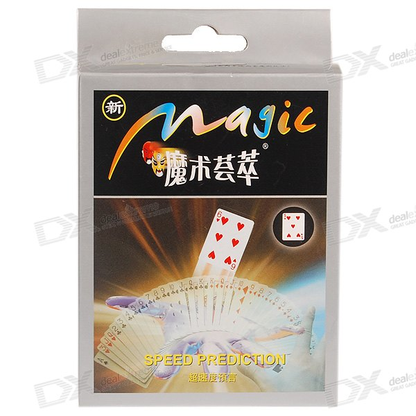 Pick-a-Card Poker Card Prediction (Charming Party Magic Set)